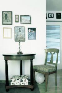 Büro zuhause Biedermeier und Kunst